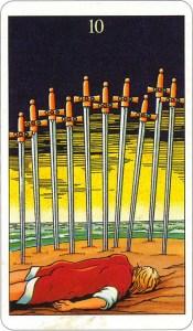 Tarotkaart 80 Zwaarden 10 tien