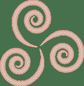celtic triskell rood / vuur Tarot Staven letarot.nl