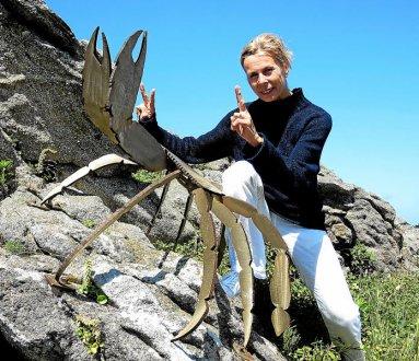 Valérie Penvern a également appris à « apprivoiser les crabes » locaux.