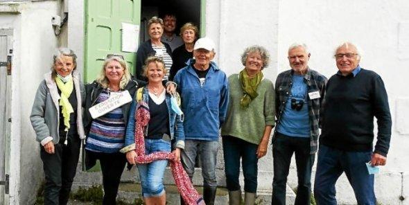 Les nombreux bénévoles n'ont pas chômé sur l'île Wrac'h pour offrir des visites réjouissantes aux curieux.