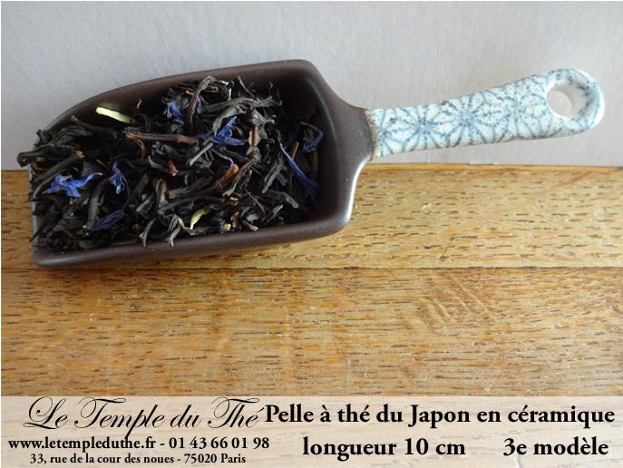 doseur a the en forme de pelle en ceramique du japon 3e modele