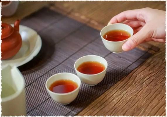 thé noir keemun tasse