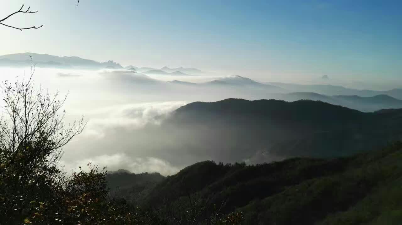 Čínský hike v provincii Hubei