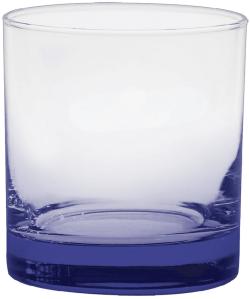 11 oz. Executive Old Fashion - Custom Glow® Bottom Spray - Reflex Blue