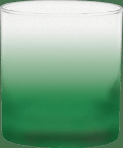 11 oz. Executive Old Fashion - Custom Frosty Glow® Spray - Green