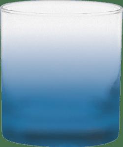 11 oz. Executive Old Fashion - Custom Frosty Glow® Spray - Process Blue
