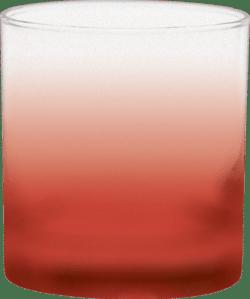 11 oz. Executive Old Fashion - Custom Frosty Glow® Spray - Red