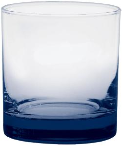 11 oz. Executive Old Fashion - Custom Glow® Bottom Spray - Navy