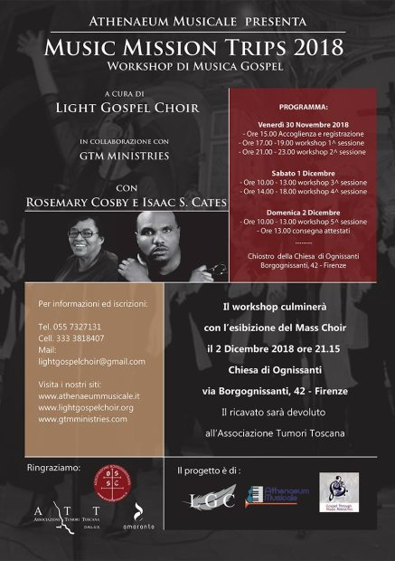 Light Gospel Choir Music Mission Trips 2018