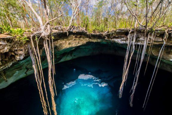 Nuotare in luoghi d'incanto in messico