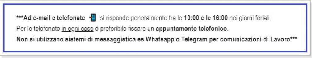 whatsapp non è uno strumento di lavoro