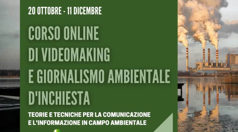 corso video marketing e giornalismo ambientale