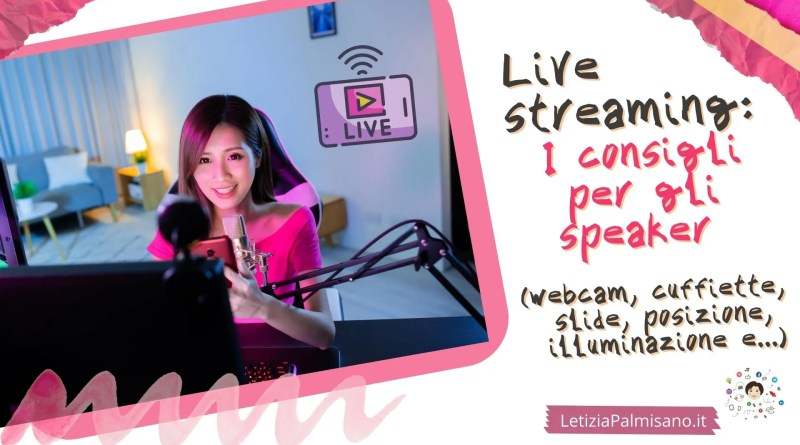 come mettere webcam microfono slide per le dirette online