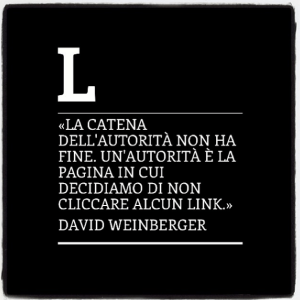 La catena dell'autorità, David Weinberger