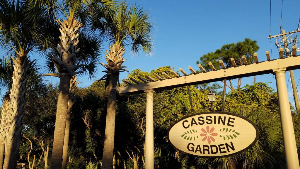 Csasine Garden Sign in Seagrove Beach, FL