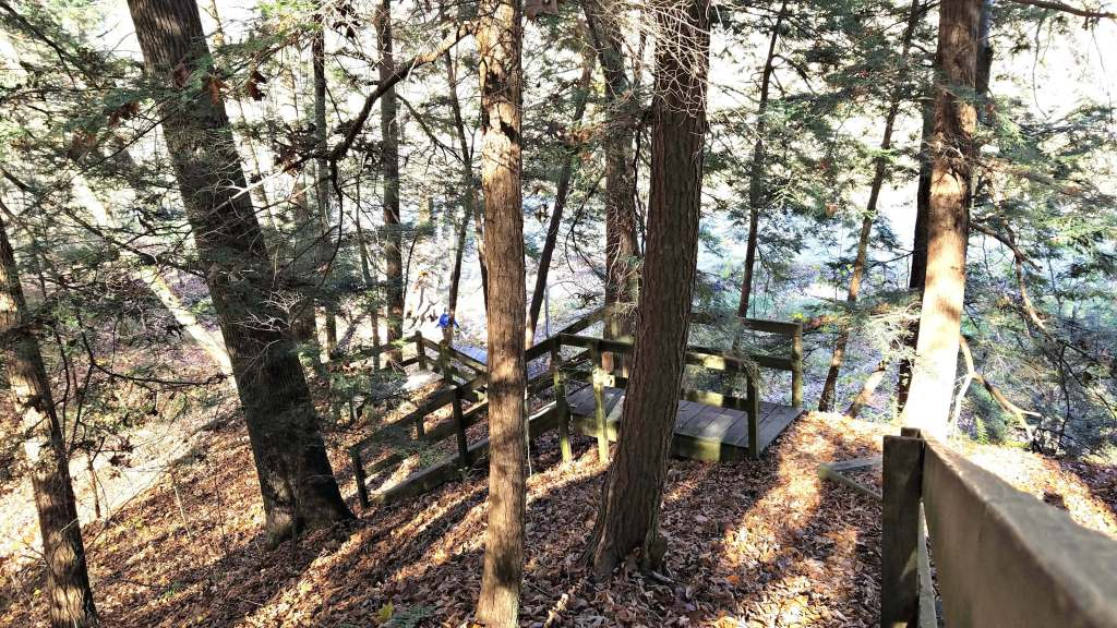 Stairs on Trail 5 at Shades State Park | Let Me Give You Some Advice