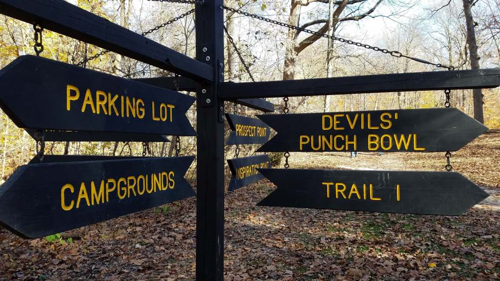 Trails signs at Shades State Park | Let Me Give You Some Advice