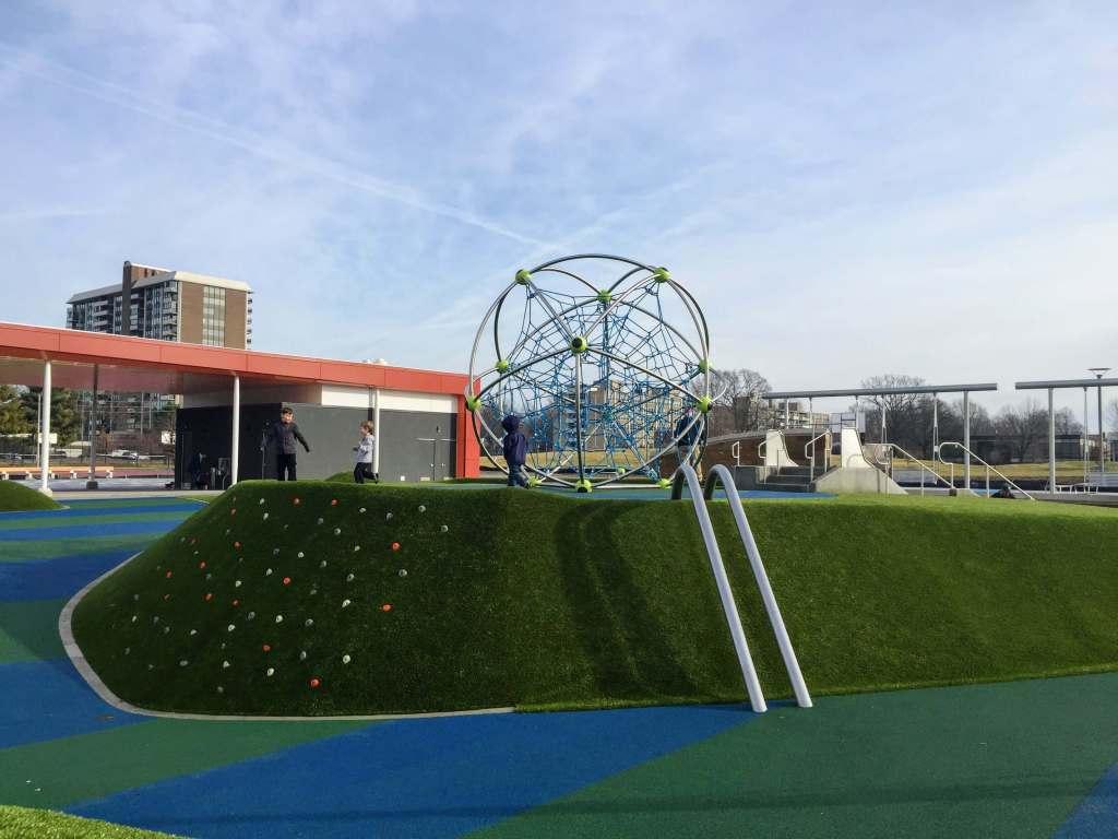 Tarkington Park Playground Climber in Midtown Indianapolis