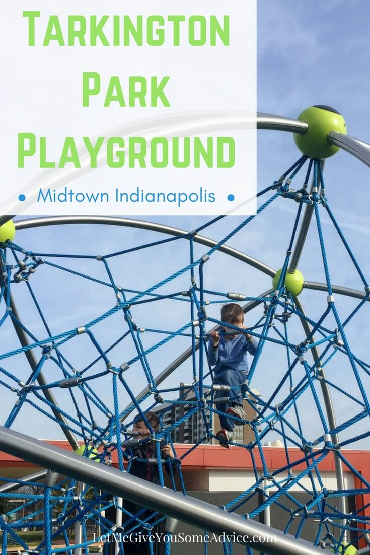 Check out one of the best parks in Indianapolis! Tarkington Park has a playground and splash pad and is just minutes from The Children's Museum of Indianapolis.