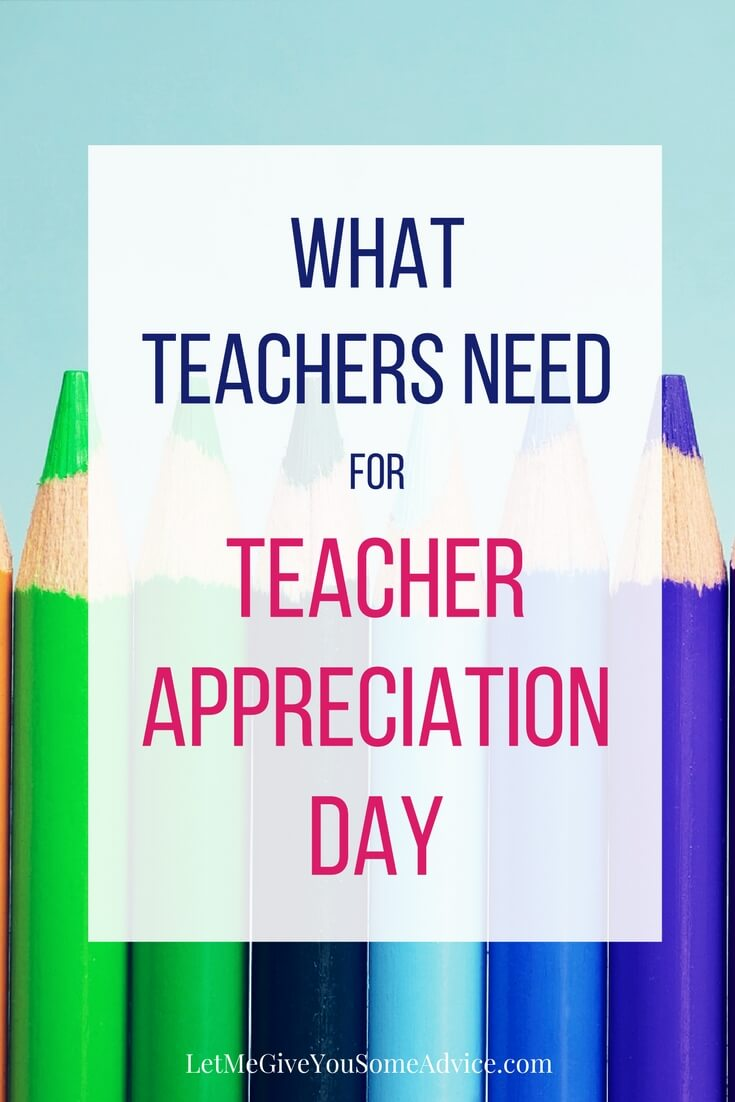 Find out what your child's teacher really needs for Teacher Appreciation Day this year. More than a Starbucks card or apple mug, find out the best way to say thank you to teachers with these unique Teacher Appreciation Day gift ideas that won't cost you a thing! #teacherappreciation #teachergifts