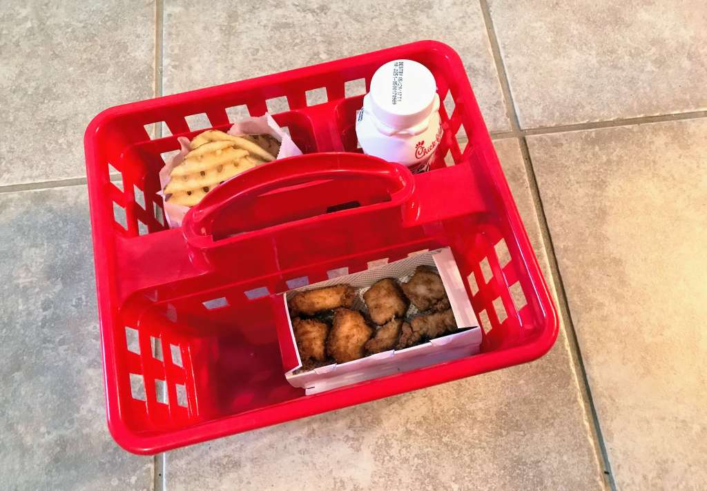 Fast food baskets for kids from Dollar Tree