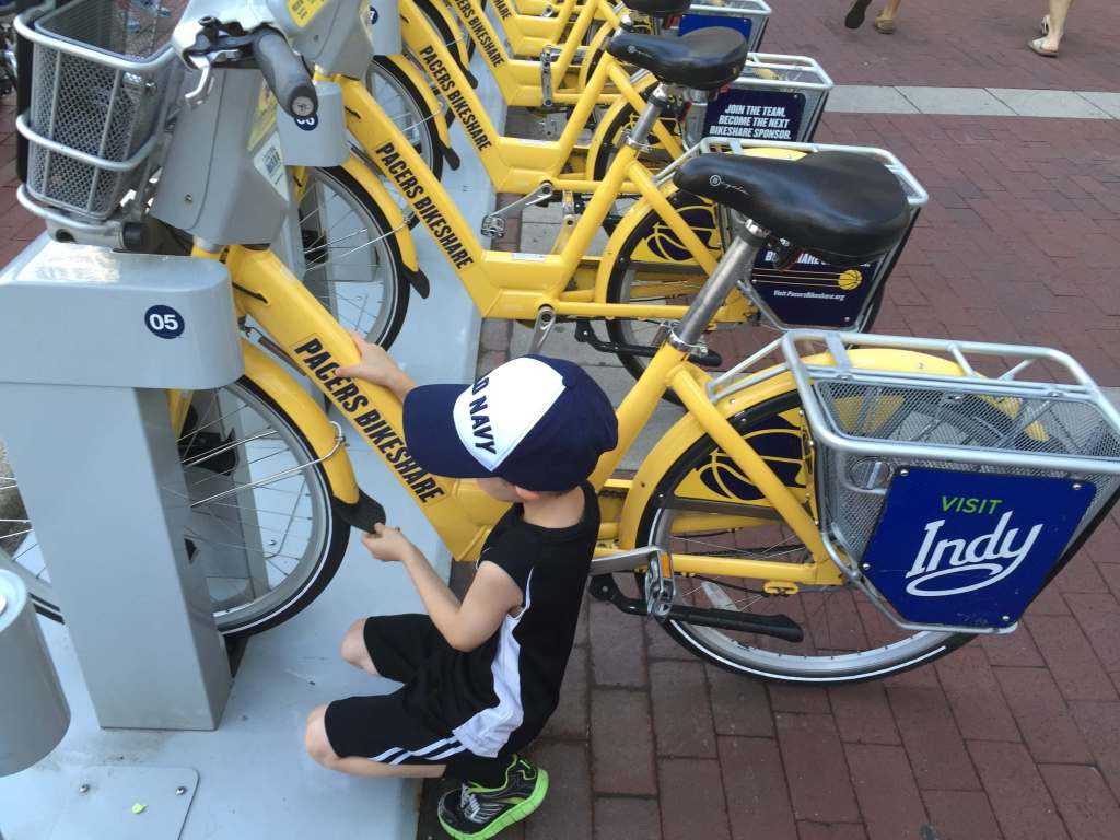 Pacers Bike Share Indianapolis Indiana