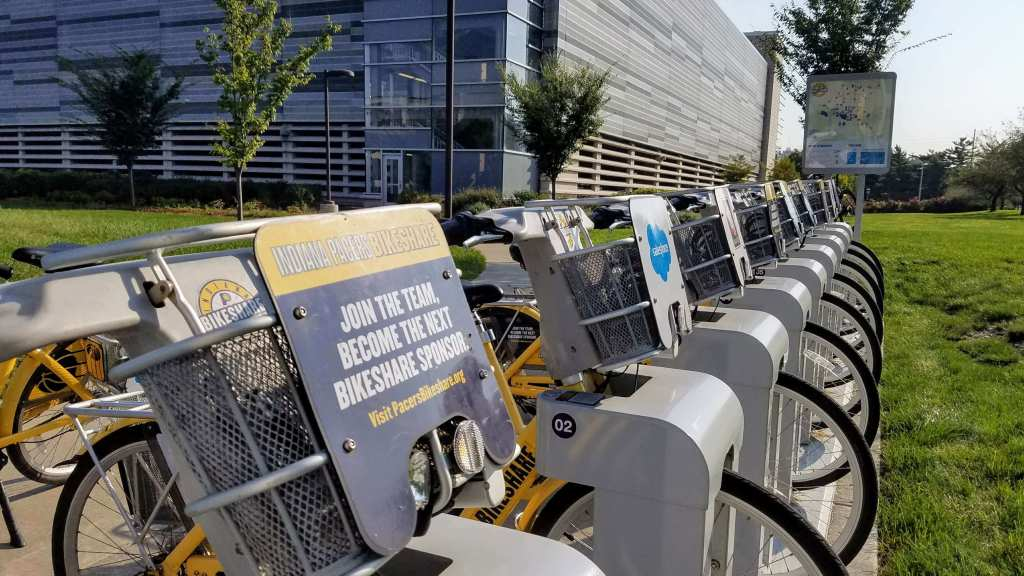 Indiana Pacers Bikeshare Downtown Indianapolis tour