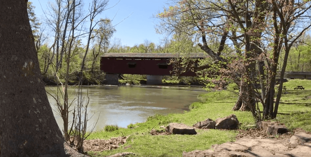 Cataract Falls Covered Bridge in Indiana