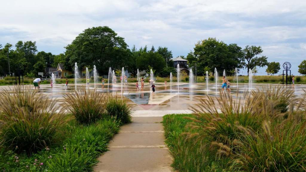 Whirlpool Compass Fountain - A Day in St Joseph, Michigan with Kids