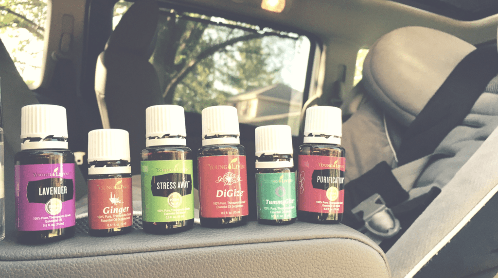 Essential Oils for Road Trips - oil bottles