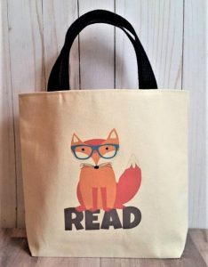 Book Gifts for Kids - Fox Book Tote from Etsy Seller Lilbagcompany