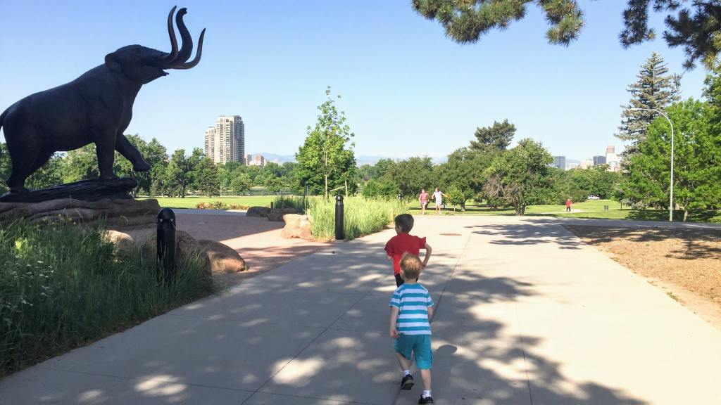 Affordable Hidden Gems in Denver for Kids - outside of Denver Museum of Nature and Science