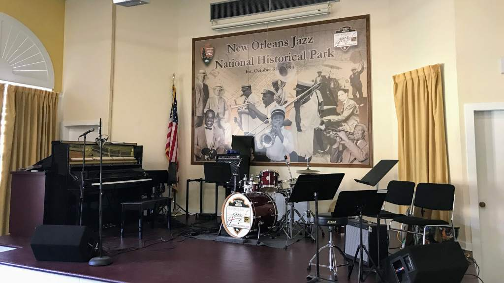 French Quarter with kids - National Historic Jazz Park stage