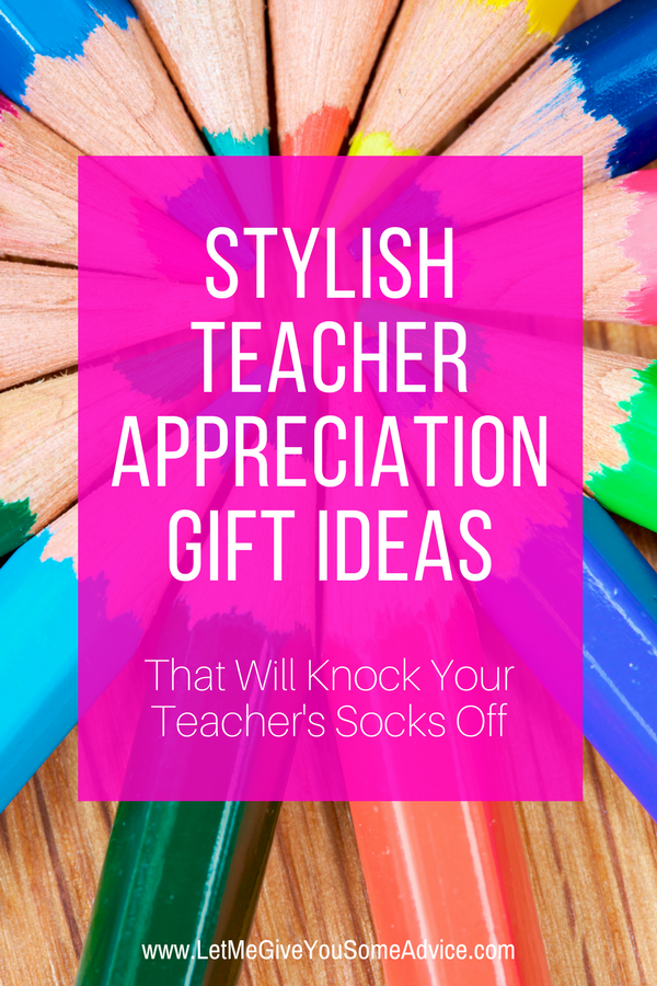 Unique teacher appreciation gifts for stylish teachers. This Teacher Appreciation Day gift guide is full of modern and stylish gifts for your favorite teacher. #teacherappreciationgifts #teachergiftideas #teachergifts