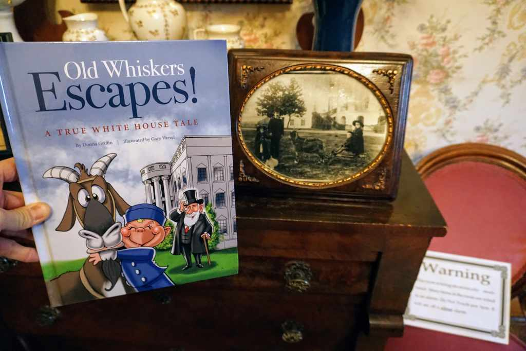 Visiting Benjamin Harrison House - Old Whiskers Escapes book