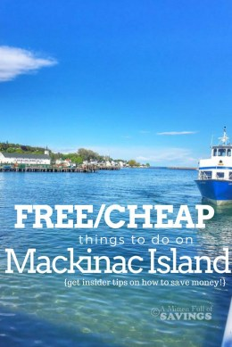 Fun Places to Visit in Michigan with kids - Mackinac Island from A Mitten Full of Savings