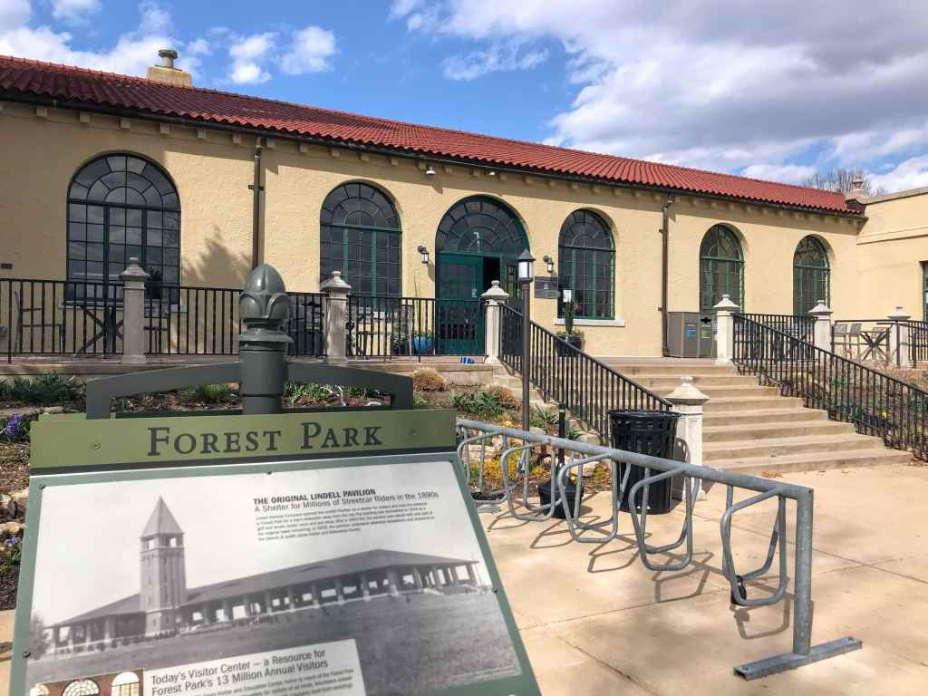 St Louis family trip - Forest Park Visitors Center