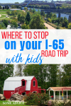 "Playground image with text overlay ""Where to Stop on your I-65 Road Trip With Kids"