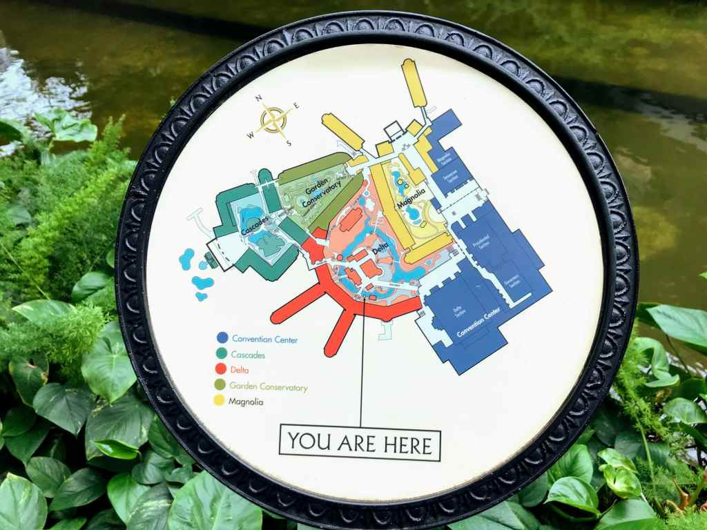 Touring the Opryland Hotel with Kids - map
