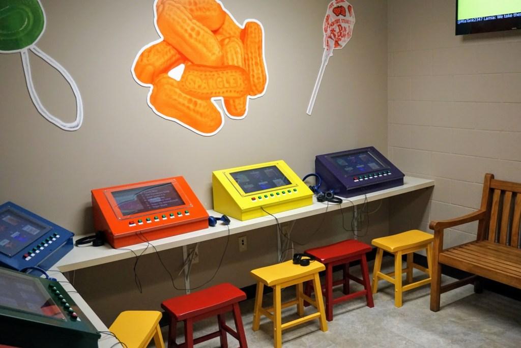 Spangler Candy Factory Tour - kids media area
