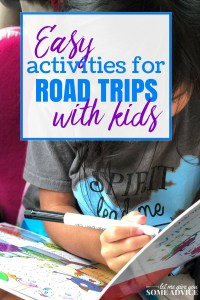 Easy Kids Road Trip Activities - Usborne activity books are perfect for family road trips