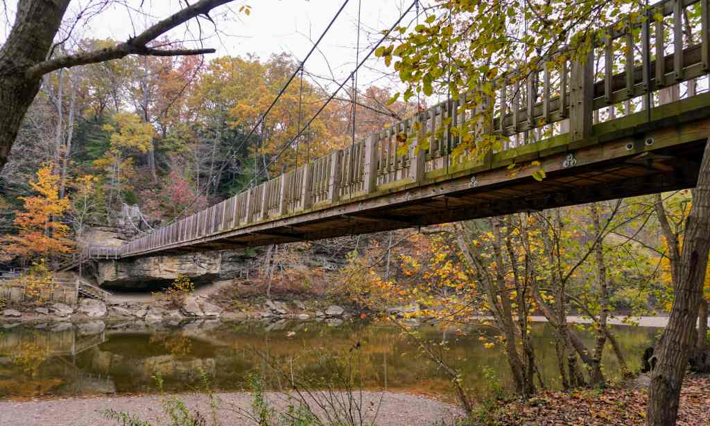 List of Indiana State Parks for Families - Turkey Run Bridge