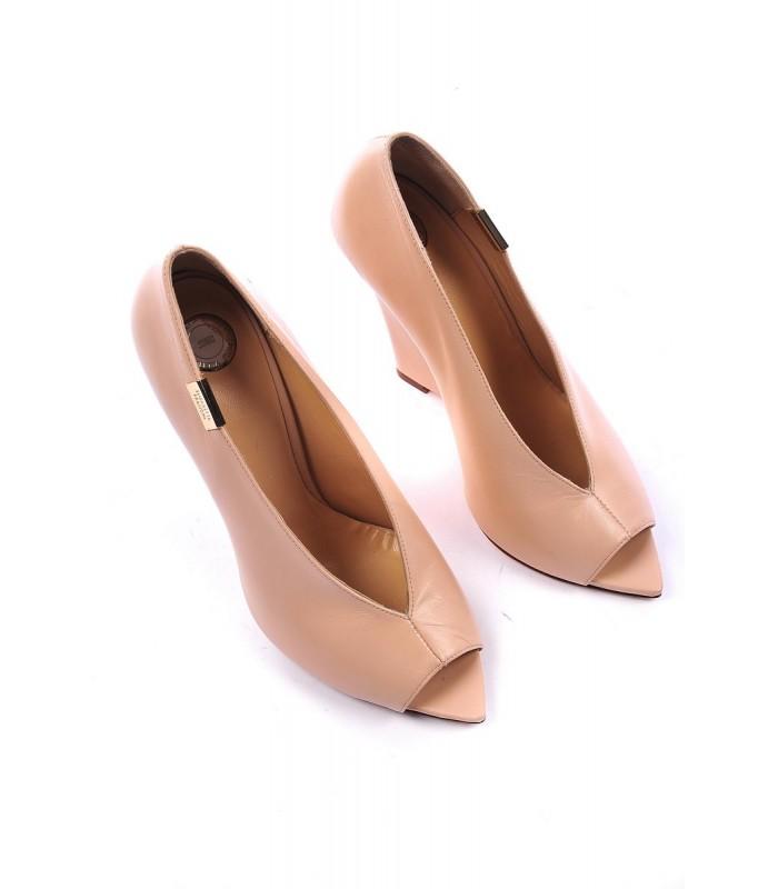 Elisabetta Franchi scarpe decollete color cipria