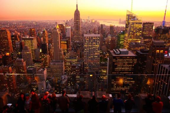 Vue de nuit Top Of The Rock coucher de soleil New York