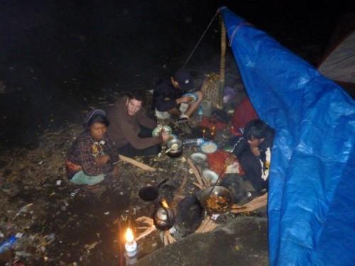 nuit sous la tente rinjani