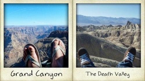 mes pieds aux alentours de Las Vegas