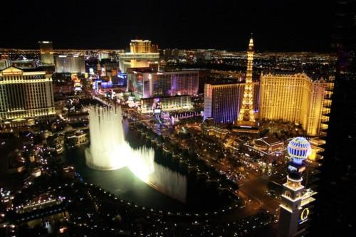 Vue sur le bellagio depuis le Cosmopolitan Las Vegas