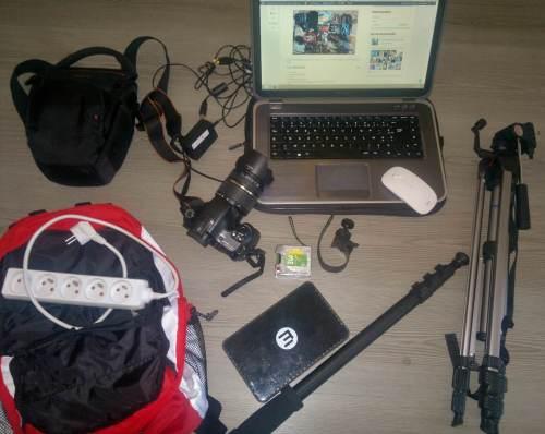 Sac materiel audiovisuel tour du monde