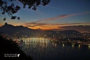 Rio de nuit, depuis le Pain de sucre - Brésil, 2013