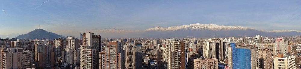 panorama santiago chili andes